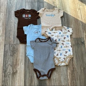 EUC Child Of Mine Baby Boy Bodysuits